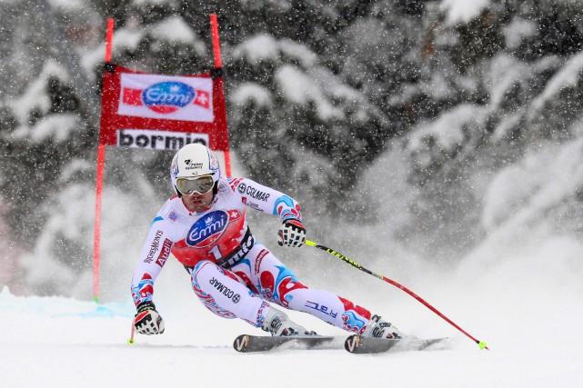 Le skieur français David Poisson... (Photo Olivier Morin, archives AFP)