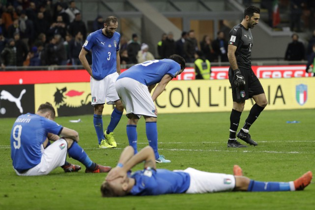 L'Italie ne participera pas à une Coupe du... (Photo Lucas Bruno, AP)