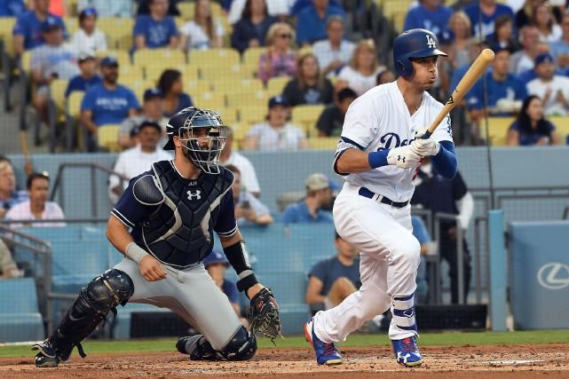 Cody Bellinger (35) des Dodgers de Los Angeles.... (photo Richard Mackson, USA TODAY Sports)