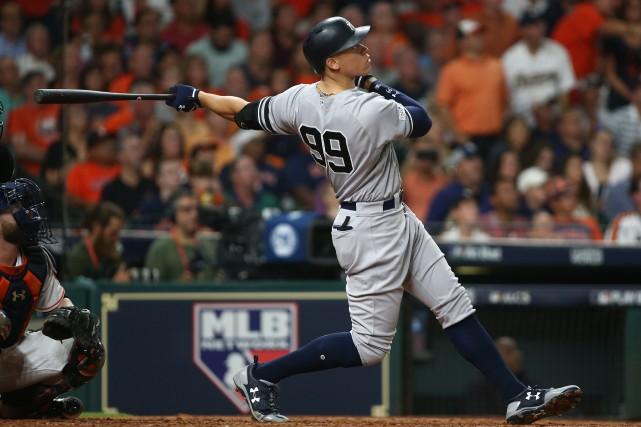 Aaron Judge (99) des Yankees de New York... (photo Troy Taormina, USA TODAY Sports)