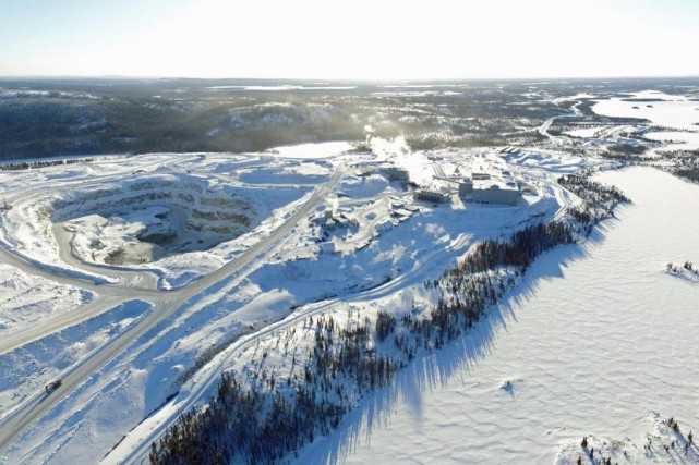 La mine Renard, la première mine de diamants... (Photo fournie par Stornoway Diamond)