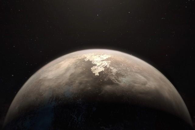 Une représentation artistique de la planèteRoss 128b.... (Photo archives Agence France-Presse)