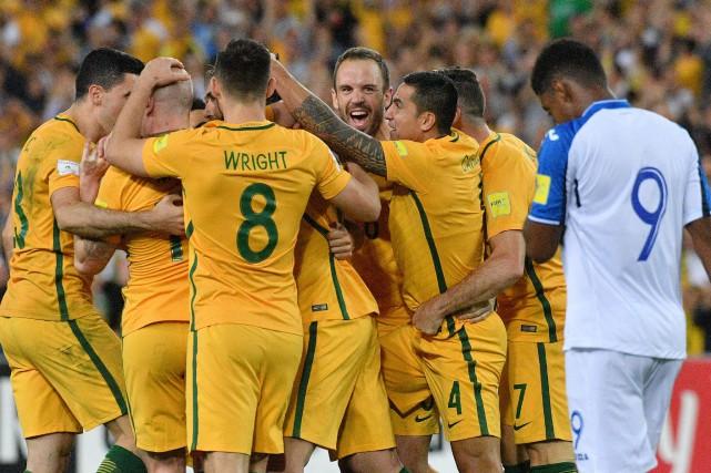 L'Australie a signé une victoire de 3-1 contre... (Photo Saeed Khan, AFP)