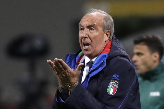 Le sélectionneur de l'Italie,Gian Piero Ventura.... (Photo Luca Bruno, AP)