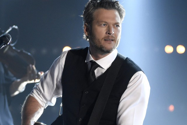 Blake Shelton lors des 49es Country Music Awards... (Photo archives AP)