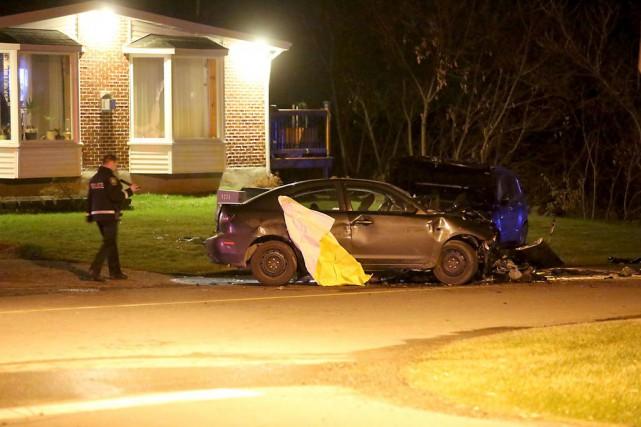 L'accident s'est produit tout près de l'Autodrome Granby,... (Photo Julie Catudal, La Voix de l'Est)