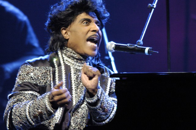 Little Richard à l'Olympia de Paris en juin... (PHOTO ARCHIVES AFP)