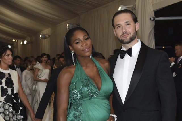 Serena Williams et son mari Alexis Ohanian en... (Photo Evan Agostini, archives Invision/AP)