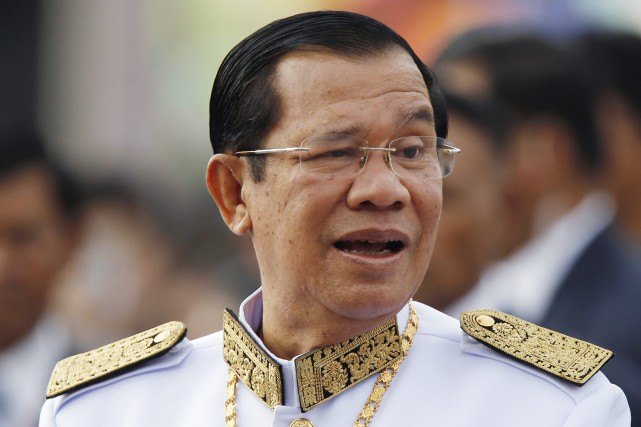 Le premier ministre du Cambodge Hun Sen... (PHOTO Heng Sinith, AP)