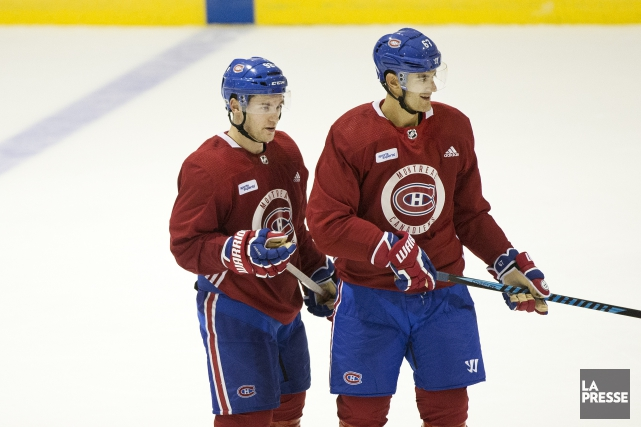 Jonathan Drouin et Max Pacioretty... (PHOTO ROBERT SKINNER, ARCHIVES LA PRESSE)