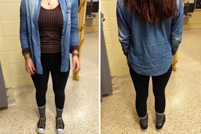 L'élève de secondaire 5 s'est présentée à l'école... (Photos tirées de Facebook)