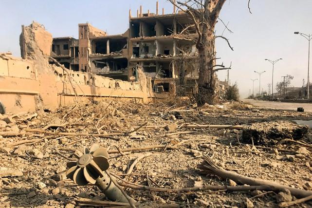 Une vue sur la ville de Deir Ezzor,... (PHOTO ARCHIVES AGENCE FRANCE-PRESSE)