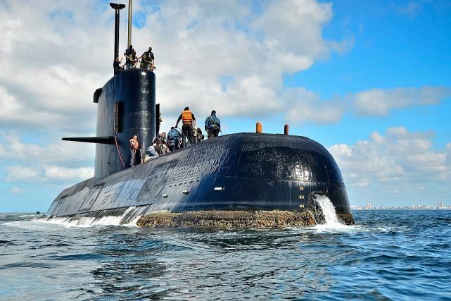 Le sous-marinAra San Juan.... (PHOTO ARCHIVES AP/FOURNIE PAR LA MARINE ARGENTINE)