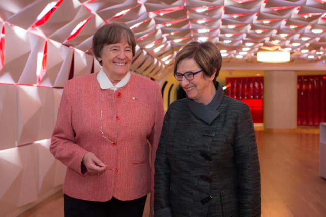 Michèle Stanton-Jean (à gauche) et Marie Lavigne ont... (Photo Olivier Pontbriand, La Presse)