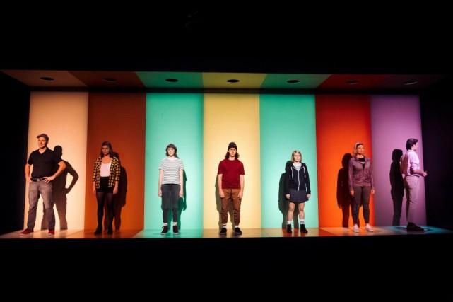 La pièce Savoir compterdeMarianne Dansereauprésente un intérêt formel... (Photo Sandrick Mathurin, fournie par leCentre du Théâtre d'Aujourd'hui)