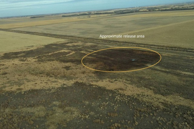 Une vue aérienne du site où a eu... (PHOTO FOURNIE PAR TRANSCANADA)