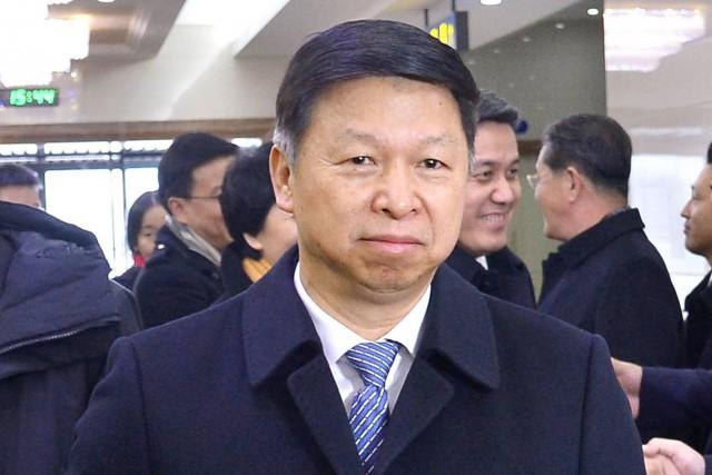 L'émissaire chinois envoyé en Corée du Nord, Song... (PHOTO AP/Kyodo News)
