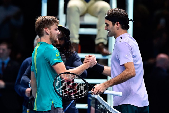 David Goffin a battu Roger Federer en trois... (PHOTO GLYN KIRK, AGENCE FRANCE-PRESSE)
