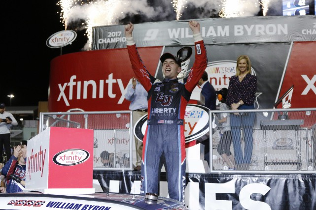 William Byron est le champion cette saison de... (Photo Terry Renna, AP)