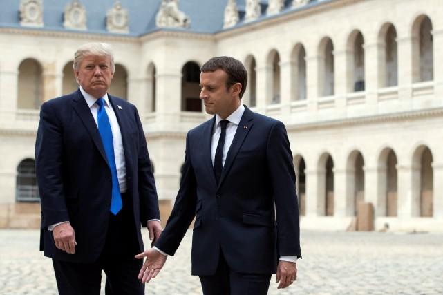Emmanuel Macron et Donald Trump.... (REUTERS)