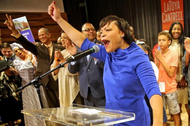 Les résultats indiquent que la démocrate LaToya Cantrell... (PHOTO MICHAEL DEMOCKER, AP/NOLA.COM THE TIMES-PICAYUNE)