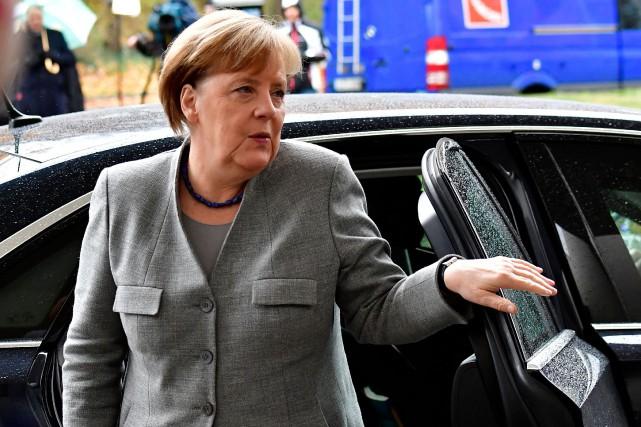 Angela Merkel a remportéles élections fin septembre avec... (PHOTO AFP)