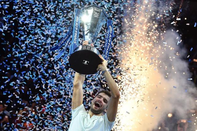 Grigor Dimitrov a remporté les Finales de l'ATP,... (Photo Glyn Kirk, AFP)