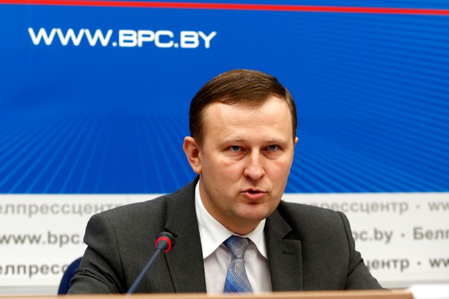 Le responsable du KGB en Biélorussie, Dmitry Pobyarzhin,... (Photo Vasily Fedosenko, REUTERS)