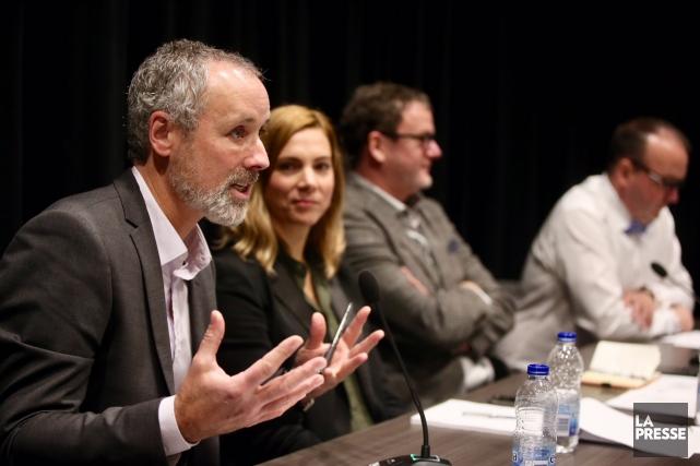 Vincent Marissal, directeur de l'agence TACT intelligence-conseil, Pascale... (Photo Martin Chamberland, La Presse)