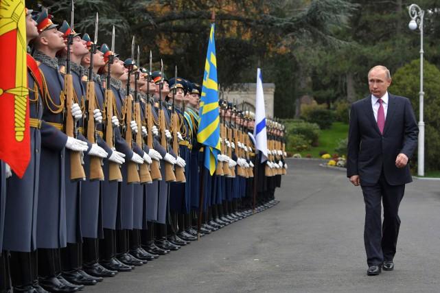 Le président russe Vladimir Poutine a passée en... (Photo  Alexey DRUZHININ, AFP)