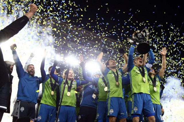 Les Sounders de Seattle ont remporté le championnat... (Photo Mark J. Rebilas, USA TODAY Sports)