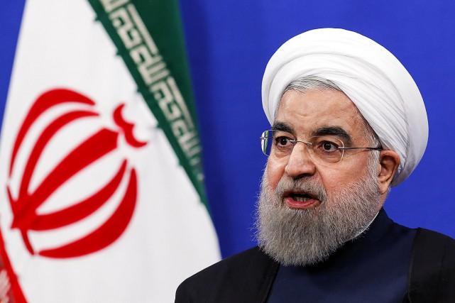 Le président iranien Hassan Rohani, photographié en janvier... (ATTA KENARE, ARCHIVES AFP)