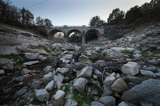 Il ne coule presque plus d'eau dans la... (MIGUEL RIOPA, AFP)