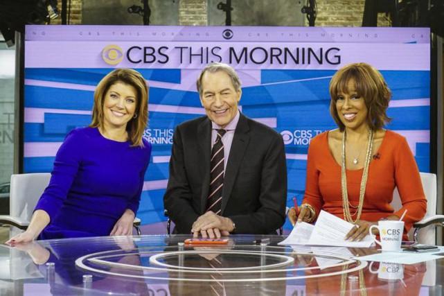 Pour la chaîne CBS, Charlie Rose co-présentait l'émissionCBS... (AP)