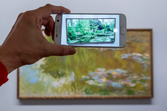 Grâce une nouvelle technologie de réalité augmentée, les... (Photo AFP)