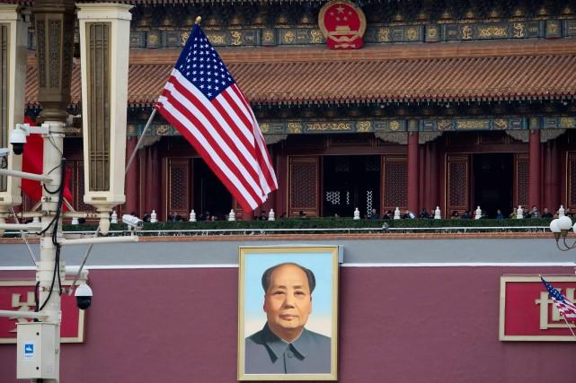 Un drapeau américain a été hissé dans la... (PHOTO AFP)