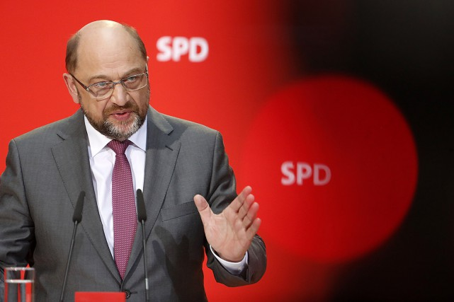 Le chefdes sociaux-démocrates allemands, Martin Schulz.... (Odd ANDERSEN, AFP)