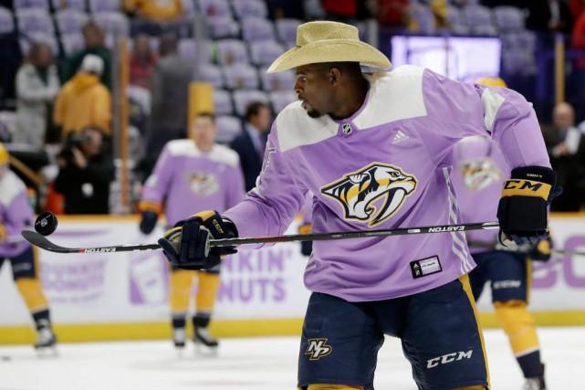 P.K. Subban a appuyé Hockey Fight Cancer en... (Photo Mark Humphrey, Associated Press)