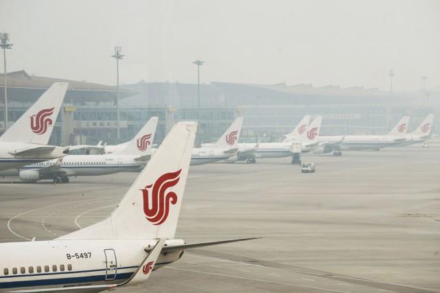 La compagnie chinoise Air China a suspendu ses vols vers la Corée du Nord, à... (PHOTO ARCHIVES AFP)