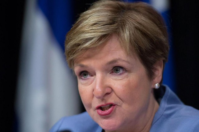 La vérificatrice générale du Québec, Guylaine Leclerc, dépose... (PHOTO JACQUES BOISSINOT, ARCHIVES LA PRESSE CANADIENNNE)