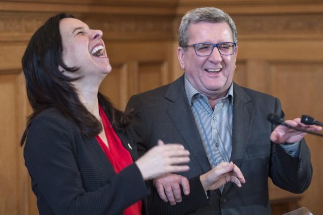 La mairesse de Montréal, Valérie Plante, a reçu... (Photo Paul Chiasson, PC)