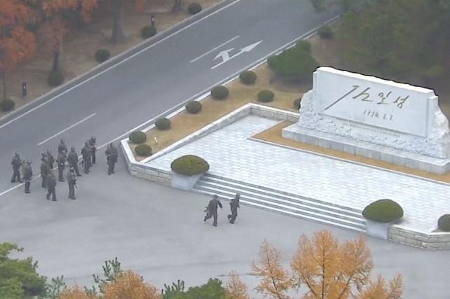 Entre 35 et 40 Nord-Coréens sont postés dans... (Photo fournie par les Nations Unies)
