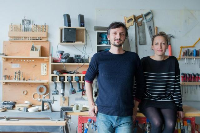 Les artisans de l'atelier C.U.B. Richard Pontais et... (Photo Edouard Plante-Fréchette, La Presse)