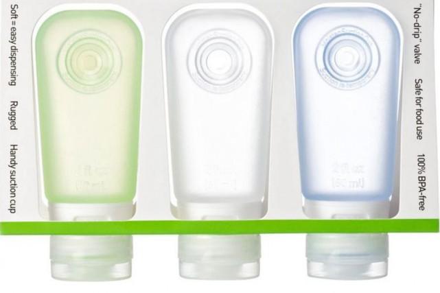 Cet ensemble coloré et transparent de trois tubes... (Photo fournie par le détaillant)