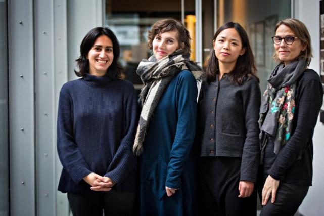 Parissa Mohit, Éléonore Goldberg, Keyu Chen et Torill... (Photo Olivier Jean, La Presse)