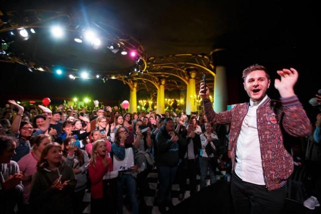 Le youtubeur PL Cloutier a reçu un accueil... (Photo Olivier Jean, La Presse)
