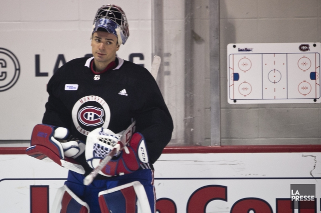 Carey Price à l'entraînement du Canadien, vendredi.... (Photo François Roy, La Presse)