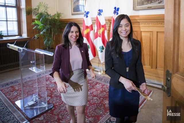 La mairesse de Montréal, Valérie Plante, et la... (Photo Olivier Pontbriand, La Presse)