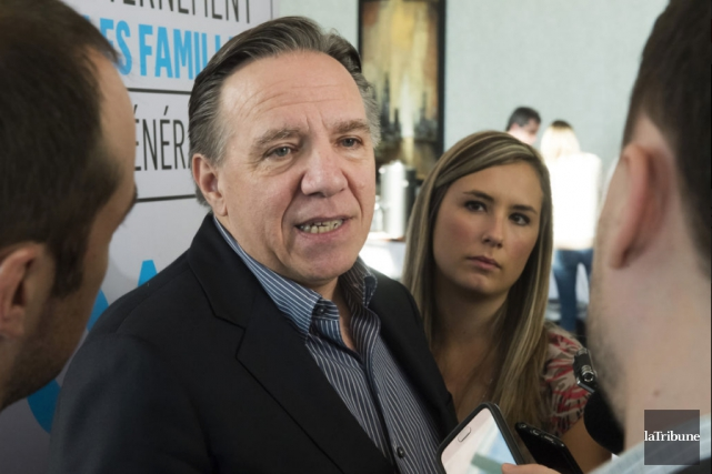 François Legault, chef de la Coalition Avenir Québec,... (Photo La Tribune)