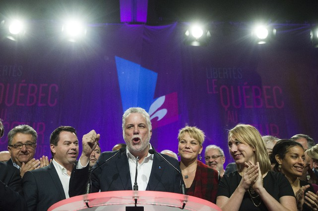 Le premier ministre Philippe Couillard lors de l'ouverture... (Photo Graham Hughes, La Presse canadienne)